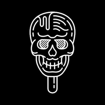 Lody czaszka