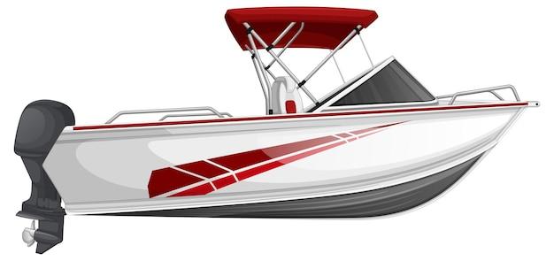 Łódź motorowa lub łódź motorowa na białym tle