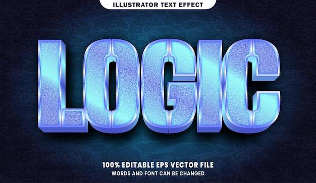 Logika 3d efekt edytowalnego stylu tekstu