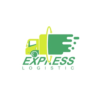 Logistyka ciężarówka logo projekt wektor