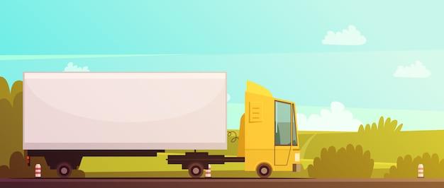 Logistyka i dostawy kreskówka tło