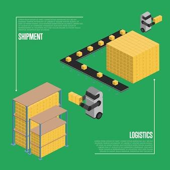 Logistyka przesyłek izometryczna