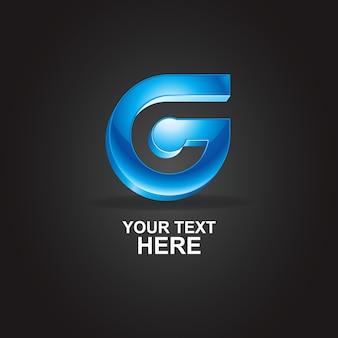 Logo 3d szablon z literą g