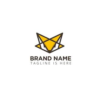 Logo Abstrakcyjny Kształt Głowy Lisa Premium Wektorów