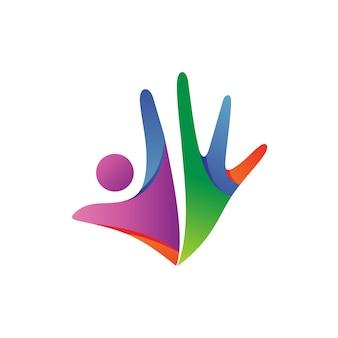 Logo abstrakcyjnych ludzi