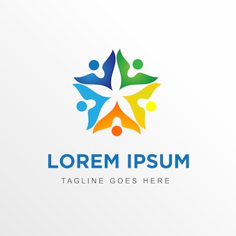 Logo abstrsct human & star