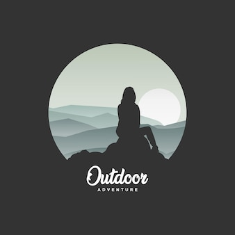 Logo adventure outdoor