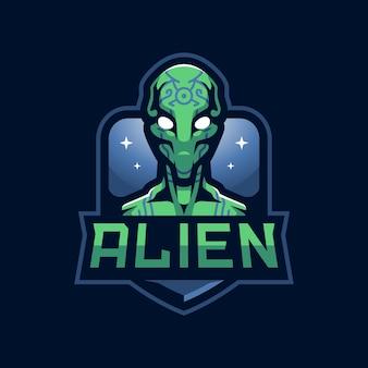 Logo Alien Esport Premium Wektorów