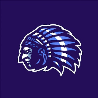 Logo apache indian sport maskot