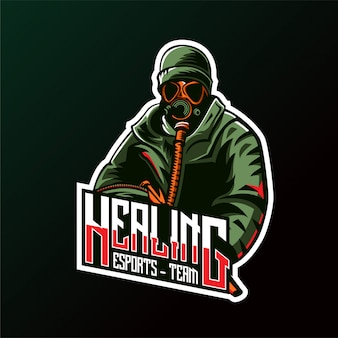 Logo army shooter esports gaming