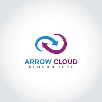 Logo arrow cloud