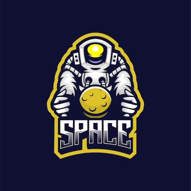 Logo astronauta e sport