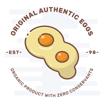 Logo badge egg fried egg