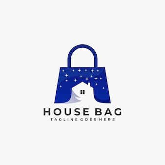 Logo bag night with home