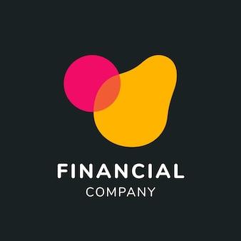 Logo bankowe, szablon biznesowy dla wektora projektowania marki