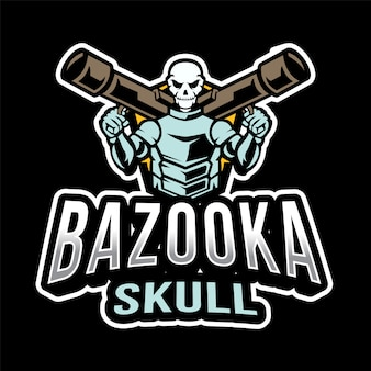 Logo bazooka skull esport