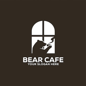 Logo bear cafe