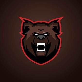 Logo Bear Esports Premium Wektorów