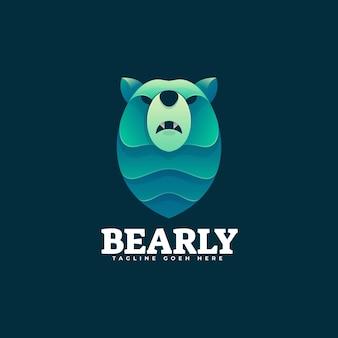 Logo bear gradient kolorowy styl.