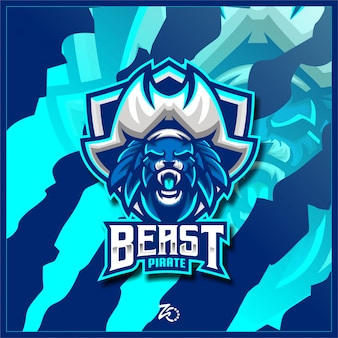 Logo beast pirate gaming esport