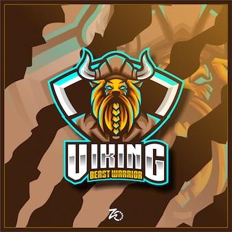 Logo beast viking gaming esport