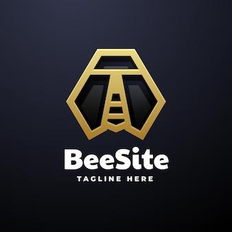 Logo beesite gradient line art style