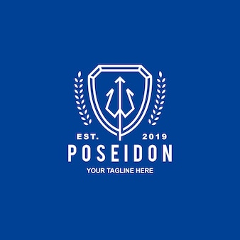 Logo bezpieczeństwa herbu poseidon