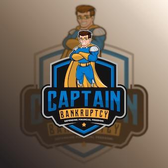 Logo Bezpieczeństwa Kapitana Premium Wektorów