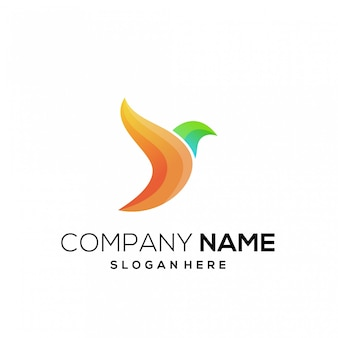 Logo bird color