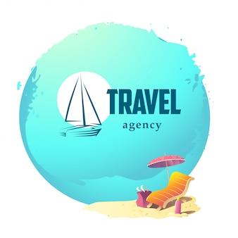 Logo biura podróży. ilustracja.