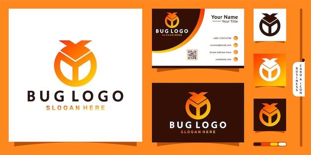 Logo błędu z literą b nowoczesna koncepcja i projekt wizytówki wektor premium