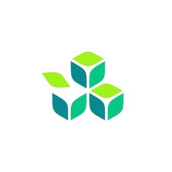 Logo blockchain liść krypto bitcoin ethereum cryptocurrency logo