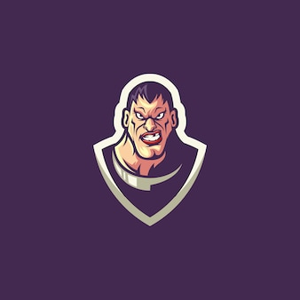 Logo bohatera na fioletowo