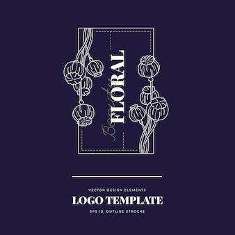 Logo botanicznych kwiatów
