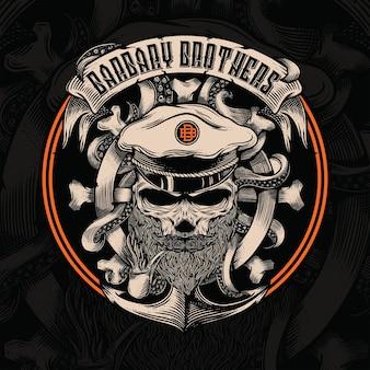 Logo brothers pirates barbary