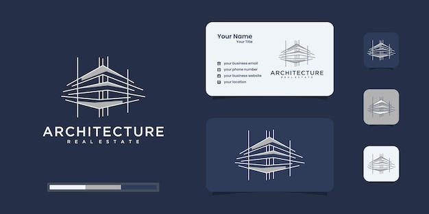 Logo budynku z unikalnym stylem graficznym i wizytówką