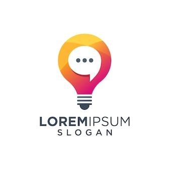 Logo bulb chat