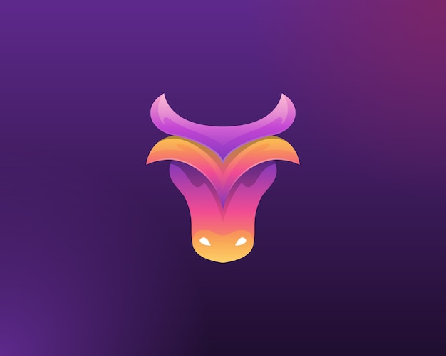 Logo byka. logo firmy głowy zwierząt