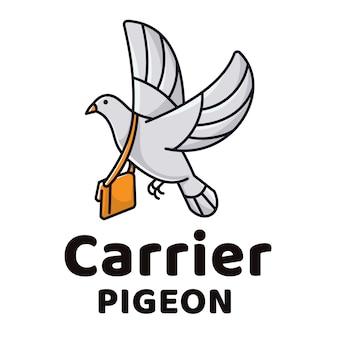 Logo carrier pigeon