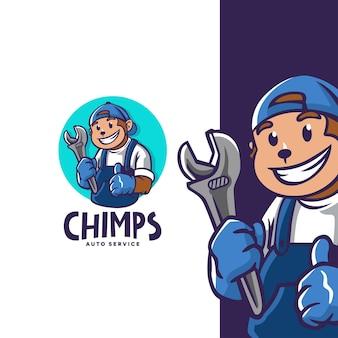 Logo chimps auto service dla twojego warsztatu