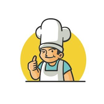 Logo chłopca szefa kuchni