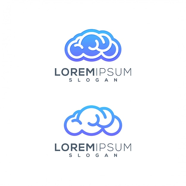 Logo chmury mózgu