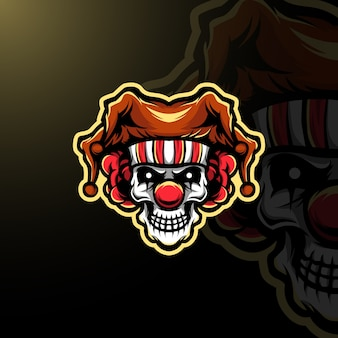Logo clown maskotka e-sport