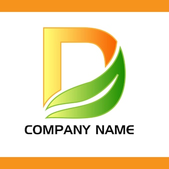 Logo comapny dla logo wektor lette d.
