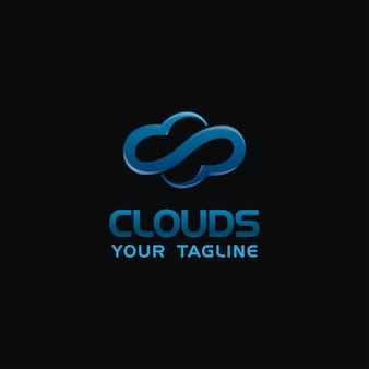 Logo creative cloud z niebieskim kolorem