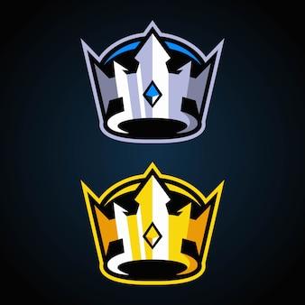 Logo Crown Esports Premium Wektorów