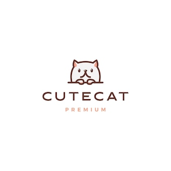 Logo cute cat