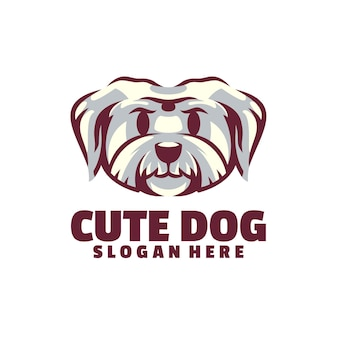 Logo cute dog jest oparte na wektorach. są w pełni edytowalne i skalowalne bez utraty rozdzielczości.