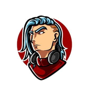 Logo cyberpunk gamers e sport