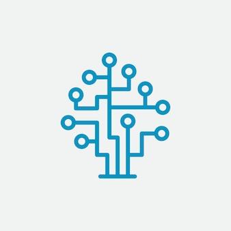 Logo cyfrowej technologii drzewiastej